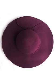 Pair a burgundy felt hat with your favorite black cotton sundress.