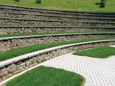 Walkway to seating at Lewis River Amphitheatre is paved with Uni Ecoloc pavers