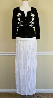 White Tier Skirt @ White Elegance