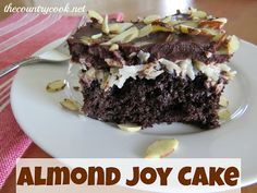 Almond Joy Cake This looks like it would taste so awesome!!!