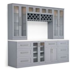 NewAge Products Home Series Shaker Style Back Bar with Wine Storage Bars For Home, Built In Bar Cabinet, Built Ins, Home Bar Designs, Home, Dining Room Cabinet, Dining Room Bar, Cabinet Design, Shaker Style
