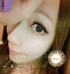Romantic Hazel Simple Cosmetic Contact Lens Colorful Pretty Daisy Brown
