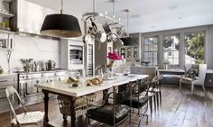 Gwyneth Paltrow & Chris Martin's Brentwood home #kitchen