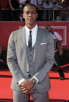 Boston Celtics' Rajon Rondo arrives at the ESPY Awards on Wednesday, July 11, 2012, in Los Angeles.