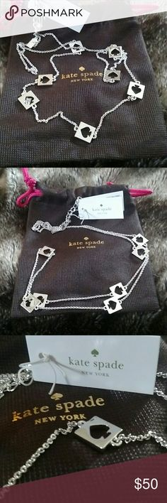 BNWT Authentic Kate Spade Signature Necklace! Beautiful Brand New Authentic Kate Spade Signature Necklace In Sterling Silver. Length Is 32 Inches That Can Be Adjustable. Lobster Clasp. Great Alone Or Layer With Another Necklace! Comes With Original Pouch And Tags! Same Or Next Day Shipping! kate spade Jewelry Necklaces