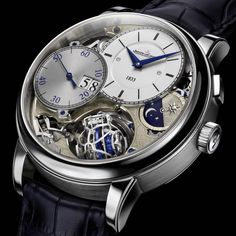 Jaeger-LeCoultre Master Grande Tradition Gyrotourbillon 3 Jubilee Early history[edit] Monument connected with Antoine LeCoultre The Fine Watches, Cool Watches, Watches For Men, Men's Watches, Wrist Watches, Dream Watches, Monochrome Watches, Der Gentleman, Shower Cleaner