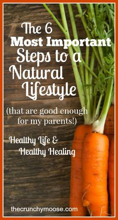 The 6 most important steps to a natural & healthy lifestyle. I did these exact steps for my own parents! thecrunchymoose.com
