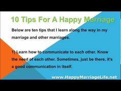 """█■█ █ ▀█▀ 10 Tips For A Happy Marriage - WATCH VIDEO HERE -> http://bestdivorce.solutions/%e2%96%88%e2%96%a0%e2%96%88-%e2%96%88-%e2%96%80%e2%96%88%e2%96%80-10-tips-for-a-happy-marriage    SAVE YOUR MARRIAGE STARTING TODAY (Click for more info…)   ► Save Marriage Alone ► Save marriage for couple ► All the best products """"Save Marriage and Stop Divorce"""" ♥ 10 tips for a happy marriage Below are ten tips I learn along the way in my marriage"""