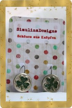 2 Metallknöpfe der 20er - 40er Jahre als Ohrringe verarbeitet... 2 metal buttons of the 20s - 40s processed as earrings ...