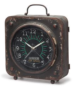 Black Iron Table Clock by Foreside Home & Garden on Antique Clocks, Vintage Clocks, Classic Clocks, Carriage Clocks, Father Time, Cool Clocks, Iron Table, Look Vintage, Telling Time