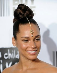 Ponytail hairstyles for black women wedding