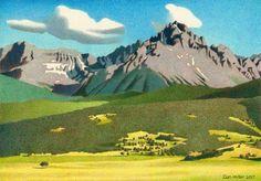 'Sneffels Range Summer' colored pencil ##art ##drawing ##landscape ##colorado...