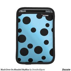 Black Dots On Blended SkyBlue Sleeve For iPad Mini