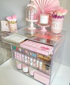 43 Trendy Makeup Vanity Organization Beauty Room Make Up Diy Makeup Organizer, Organizer Box, Make Up Organizer, Makeup Storage Organization, Make Up Storage, Storage Ideas, Lipstick Organizer, Box Storage, Closet Storage