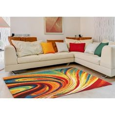 Shop for Home Dynamix Splash Collection Contemporary Multi-Colored Area Rug (7'10