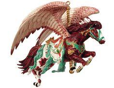 $21.95 Nene Thomas Hunter Brown Carousel Horse Ornament