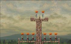 Elimina a los soldados apuntando correcatamente la catapulta http://mundobanana.com/Siege-master-10000771.html