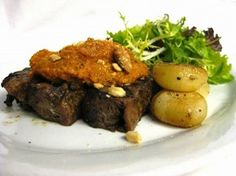 Recipe for Slow-Roasted Short Ribs with Romesco Sauce from chef Michael Schwartz of Michael's Genuine Food & Drink in Miami