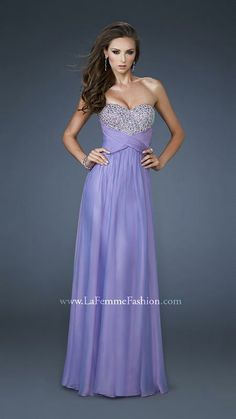 { 18304 | La Femme Fashion 2013 } La Femme Prom Dresses - Strapless - Sweetheart - Shine - Open Criss-Cross Back