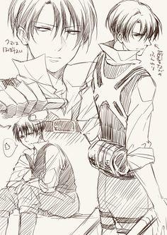 Attack on Titan - Levi Ackerman Manga Anime, Manga Boy, Anime Guys, Levi Ackerman, Arte Sketchbook, Image Manga, Attack On Titan Levi, Levi X Eren, Another Anime