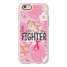 I Am A Fighter Floral 2 Breast Cancer Awareness  - iPhone 7 Case,... (550 ZAR) ❤ liked on Polyvore featuring accessories, tech accessories, phone cases, phones, iphone case, iphone hard case, apple iphone cases, iphone cover case, floral iphone case and iphone cases