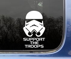 Any Star Wars fan needs this vinyl sticker. No matter if you support the Rebel Alliance or the Empire, this sticker will bring you hours of pure entertainment. By purchasing this sticker you support peace and freedom across the galaxy. Car Decals, Bumper Stickers, Vinyl Decals, Window Decals, Car Gadgets, Car Hacks, Silhouette Cameo Projects, Car Humor, Disney Cars