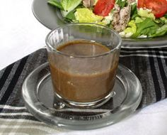Homemade Balsamic Vinegarette Salad Dressing - Yummy!  It seems to be a small serving, I had to triple the recipe for 4 people.  SO good!