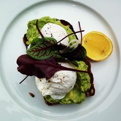 poached eggs and avocado More