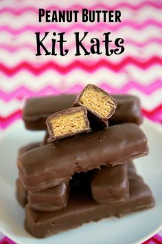 Peanut Butter Kit Kats - only 3 ingredients! I became addicted to these in Europe. LOVE that I can make them at home!
