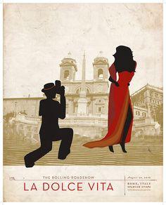 La Dolce Vita    Movie poster series for The Rolling Roadshow - Rome