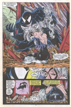 Venom tearing apart in Black in Amazing Spider-Man #316