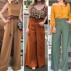 Style statement outfit ideas – Just Trendy Girls Fashion Pants, Look Fashion, Fashion Dresses, Chic Outfits, Trendy Outfits, Fall Outfits, Pantalon Elephant, Casual Wear, Casual Dresses
