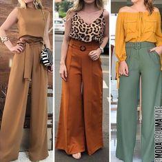 Quem ama #calcapantalona ?? Essa peça trás sofisticação e elegância a qualquer look e ocasião. Se vc não gosta de calças justas a pantalona…