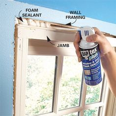 Stop Window Drafts and Door Drafts to Save Energy. Remove window and door trim to seal air leaks for good and save big money.