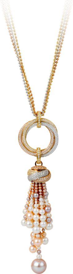 Colar Trinity de Cartier Ouro branco, ouro amarelo, ouro rosa, pérolas, diamantes