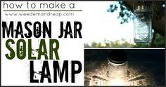 Mason Jar Solar Lamp