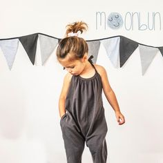 Baby cute harem jumpsuits for girls: Lounge wear j Jumpsuits For Girls, Girls Rompers, Toddler Girl Outfits, Kids Outfits, Toddler Girls, Denim Romper, Mini Vestidos, Baby Sewing, Girls Shopping