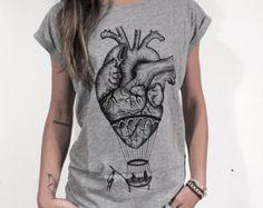 Anatomical heart TANK TOP hot air balloon by hardtimesdesign