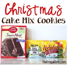 Christmas Cake Mix Cookies Recipe! ~ from TheFrugalGIrls.com ~ these tasty festive treats are perfect for your Christmas parties and Cookie Exchanges! {only 4 ingredients!!} #holiday #recipes #thefrugalgirls