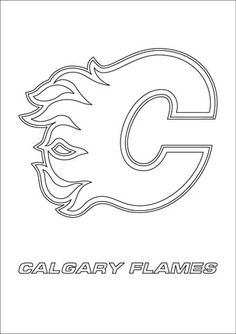 calgary flames logo nhl hockey sport coloring pages printable and coloring book to print for free. Find more coloring pages online for kids and adults of calgary flames logo nhl hockey sport coloring pages to print. Sports Coloring Pages, Coloring Pages To Print, Free Printable Coloring Pages, Colouring Pages, Coloring Books, Hockey Logos, Nhl Logos, Hockey Rules, Sports Logos