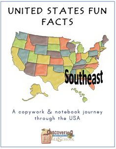 FREE USA Fun Facts and Copywork featuring the Southeast