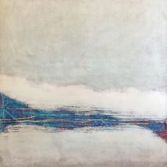 "Jeff Erickson, ""Snow Banks"" - Oil & Wax on Panel--at Principle Gallery Charleston Landscape Elements, Abstract Landscape, Landscape Paintings, Abstract Art, Oil Paintings, Landscapes, Art Impressions, Abstract Painters, Encaustic Painting"