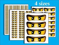 INSTANT DL Ninjago ogen voor ballon Stickers Lollipop door GoAlis