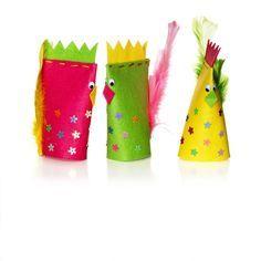 Junior-sats Kuckeliku & Co från Panduro. Easter Crafts For Kids, Craft Activities For Kids, Projects For Kids, Diy For Kids, Toilet Roll Craft, Chicken Crafts, Diy Ostern, Sunday School Crafts, Crafty Kids