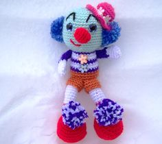 Celebrate Clowns in August – Knit or Crochet a Clown – free patterns – Grandmother's Pattern Book