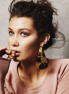 """She's Golden"" Bella Hadid for Glamour US July 2015"