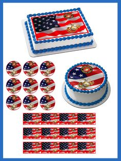 marine corp party idea images cake topper cupcake marine corps