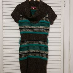 Beautiful Sweater Dress Wore it once.Very beautiful. Lost the belt. 100%Acrylic . Size Large Other