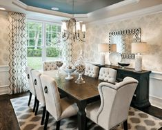 30 Terrific Transitional Style Dining Room Ideas