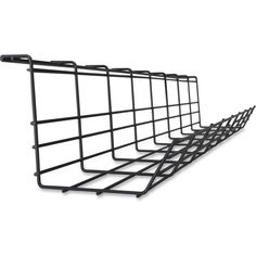 Item #: LLR25991 Lorell Mounting Tray for Cable Black Easier wire management Attach under desk for easy cord access Made of durable metal Includes mounting brackets